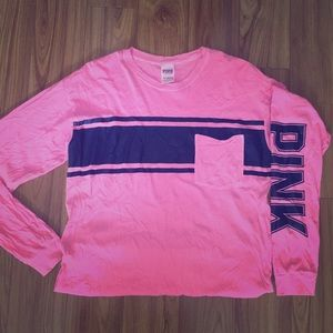 Victoria Secret Pink, Oversized Crew Long Sleeve T